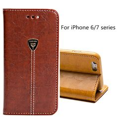 Case for iphone 6 6S plus Retro Flip Genuine Wallet Leather Case Stand Function Card Holder Phone Cases Cover For iphone 7 7plus