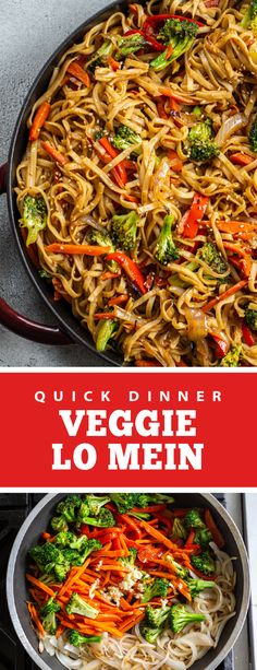 A quick dinner veggie lo mein perfect for any family dinner. This recipe is perfect for kids and adults, it is easy to make and perfect for any weeknight. It only takes 30 minutes to make and is vegetarian, this slurpy delicious goodness is good for any day. This recipe is quick and easy. #veggielomein