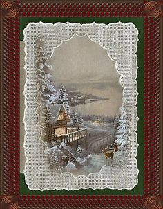 The pergamano adds so much to the winteriness of this card.