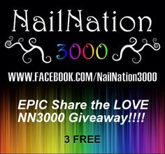 EPIC giveaway from NailNation3000! Over 50+ brands and bloggers participating!