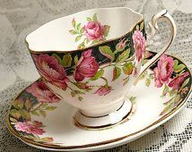 Queen Anne Rose Cup and Saucer