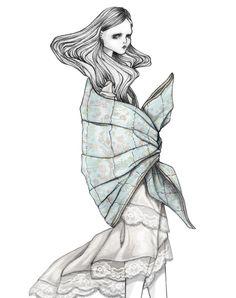 Fashion illustration - Ilustración de moda AISS GRIMM | diseño | estilo