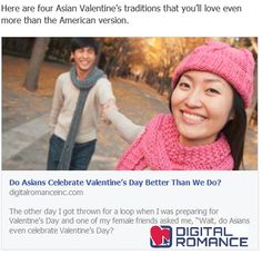 """The other day I got thrown for a loop when I was preparing for Valentine's Day and one of my female friends asked me, """"Wait, do Asians even celebrate Valentine's Day? Read »"""