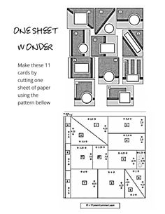 card sketches One Sheet Wonder Pattern for 11 Cards Card Making Templates, Card Making Tips, Card Making Techniques, Making Ideas, Making Tools, Fancy Fold Cards, Folded Cards, Simple Birthday Cards, One Sheet Wonder