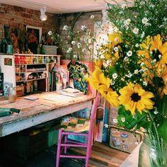 Katie Daisy's studio