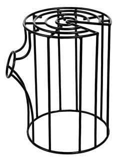 £94.30 - Wire Log Stool In Black by Pols Potten