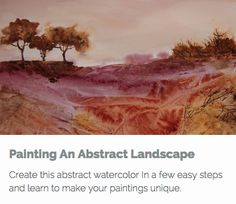 The point of this course is to encourage you to use your imagination to make your paintings stand out.