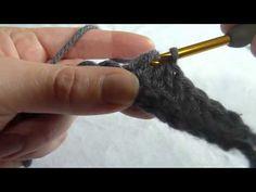 Stitch Scene: Double Crochet Decrease (double crochet 2 stitches together) (dc2tog) .