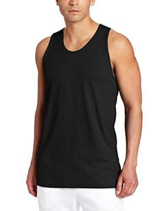 Russell Athletic Men's Basic Cotton Tank Top, Black, XXX-Large - http://www.exercisejoy.com/russell-athletic-mens-basic-cotton-tank-top-black-xxx-large/athletic-clothing/