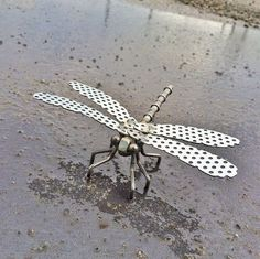 Metal Sculpture Welded Sculpture Metal Dragonfly by RayMercadante