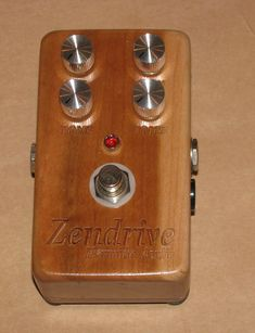 Wooden pedal!