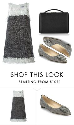 """""""Untitled #630"""" by elitsagospodin ❤ liked on Polyvore featuring Chanel, Manolo Blahnik and Mark Cross"""