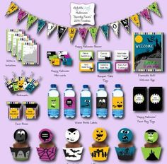 #Free #Halloween Party #Printables    make your Halloween party over the top, with these free Halloween party printables