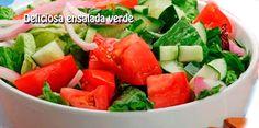 Deliciosa ensalada verde