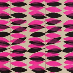 Miro 'Miro' is a leaf stripe velvet which has been simplified from a Sanderson document dating from the early Two contrasting colours are showcased in the velvet leaves on a plain woven ground. Collection: Laszlo Design name: Miro Colour: Black/Silver Graphic Patterns, Textile Patterns, Textile Prints, Modern Patterns, Ideas Scrap, Fabric Design, Pattern Design, Neon, Pretty Patterns