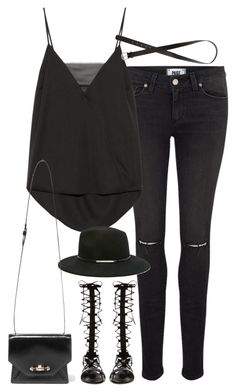 """""""Untitled#4040"""" by fashionnfacts ❤ liked on Polyvore featuring Paige Denim, By Malene Birger, Forever 21, H&M, Raye, Givenchy, women's clothing, women's fashion, women and female"""