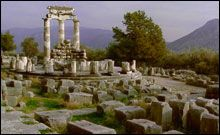 Dating back to 1400 BC, the Oracle of Delphi was the most important shrine in all Greece. Delphi was considered to be the omphalos - the center of the world.
