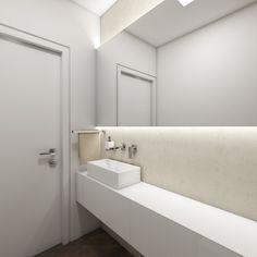 Elegantní toaleta GLAM - Pohled od toalety