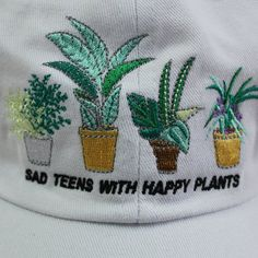 VALENTINE'S DAY SALE- SAD TEENS WITH HAPPY PLANTS