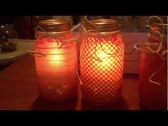 Homemade Glass Jar Luminaries For DIY Candle .   In the temporary category, but easy and quick