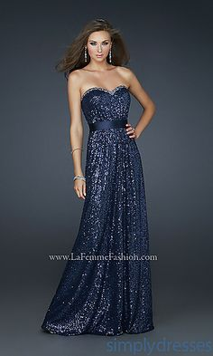 Strapless Sequin Prom Gown by La Femme....LOVE, if only it were not so expensive!!