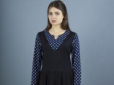Stretchkleider - NARA  mädchenhaftes Kleid in JUMPER Rock Optik - ein Designerstück von Berlinerfashion bei DaWanda