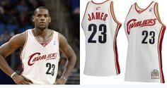 THE SNEAKER ADDICT: Lebron James Cleveland Cavs Rookie NBA Jersey Is B...