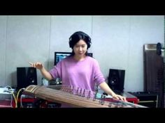 Korean cutie, Luna Lee, performs Jimi Hendrix's Voodoo Chile on the classical Korean string instrument, the Gayageum.