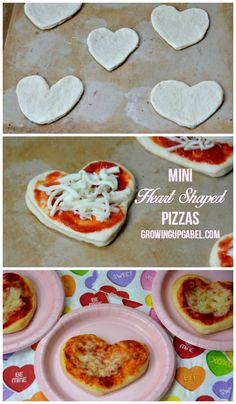 Make mini heart shape pizza with your kids this Valentine's Day with this easy pizza recipe.  Just top homemade pizza dough with LaRomanella pizza sauce and mozzarella cheese for a fun, easy Valentine's Day recipe for kids.