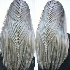 Really cool braids - New Site Pretty Hairstyles, Braided Hairstyles, Amazing Hairstyles, Braid Styles, Short Hair Styles, Cool Braids, 2 Braids, Braid Hair, Hair Art