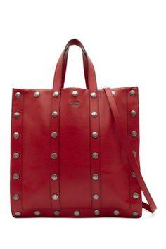 Studded Leather Tote   Shoulder Bag 93a186933f031