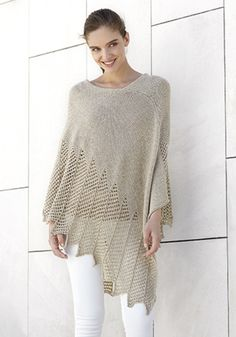 Stunning poncho design to knit!  Katia Concept 3 Collection