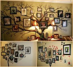 What a lovely way to display family photos!  We have more simple decorating ideas on our site at http://theownerbuildernetwork.co/8z0b  Whether you arrange them in an historically accurate way, or just use the tree to show the growth of your immediate family members, We think the idea is great.