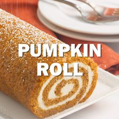 Old Fashioned Pumpkin Roll with Cream Cheese Filling! This classic fall treat. Pumpkin Cream Cheese Roll, Cream Cheese Rolls, Cream Cheese Filling, Cheese Pumpkin, Cream Cheese Recipes, Pumpkin Recipes, Fall Recipes, Holiday Recipes, Fall Dessert Recipes