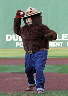 He threw out the first pitch at the MSU vs. Ole Miss baseball game last night. Ole Miss Baseball, Baseball Stuff, Msu Vs, Smokey The Bears, Pitch