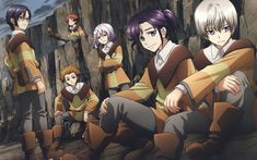 Download wallpapers Kakumeiki Valvrave, 4k, Japanese anime, Haruto Tokishima, L-elf Karlstein, Saki Rukino, Shouko Sashinami