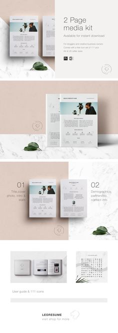 3 Page Media Kit Template 03 - Ad Rate Sheet Template - Press Kit - ms word pamphlet template