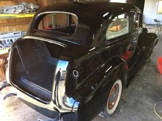 Glossy Black Paint and Body Work on a Classic Car http://www.chromefactorylv.com/services/