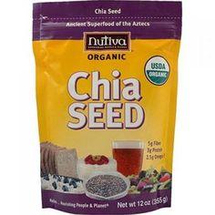 Nutiva 1159086 Organic Chia Seed - 12 Oz