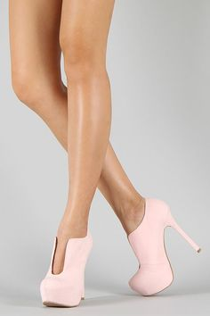 Qupid Miriam-95 Almond Toe Platform Bootie $31  AND AMAZING BLUEE