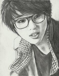Kang Min Hyuk for Dummymako by topistops on DeviantArt Kang Min Hyuk, Hot Tattoos, Minhyuk, Mona Lisa, Deviantart, Portrait, Artist, Artwork, Work Of Art