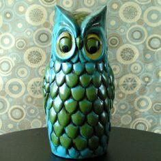 Vintage Ceramic Owl Hairspray Cover