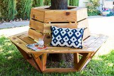 To Build A Hexagon Cedar Bench Build a gorgeous hexagon cedar bench for your backyard using this tutorial and plans.Build a gorgeous hexagon cedar bench for your backyard using this tutorial and plans.