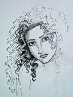 Curly hair study... by Melibells.deviantart.com on @deviantART