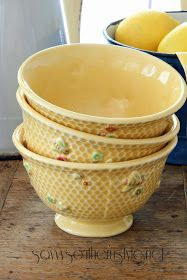 Savvy Southern Style: They're Back Savvy Southern Style, Bee Happy, French Country, Farmhouse Decor, Garden Design, Home And Garden, Tableware, Bees, Cottage