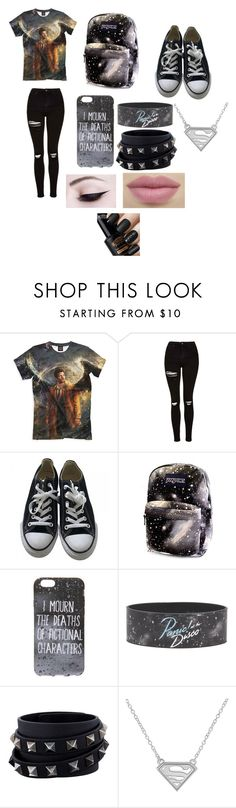"""""""high school best"""" by rainainorman ❤ liked on Polyvore featuring Topshop, Converse and Valentino"""
