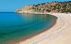 Pachia Ammos of Samothrace is the most visited beach of the island. Greece Islands, Crystal Clear Water, Most Visited, Crete, Places To Go, Beautiful Places, Travel, Outdoor, Visit Greece