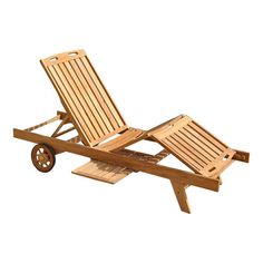 Cullman Indoor/Outdoor Teak Lounger at Joss & Main