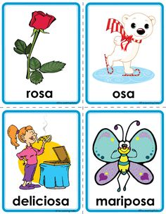 Picture Preschool Spanish, Spanish Lessons For Kids, Spanish Teaching Resources, Teaching Tools, Pre K Activities, Spanish Activities, Alphabet Activities, Learning Websites For Kids, Baby Learning