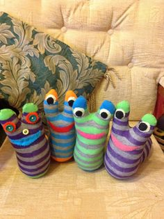 sock monkey - they are so last year - the new homemade craft sensation are the sock slugs! http://onceuponaslime.moonfruit.com/#/sock-slug/4570366031